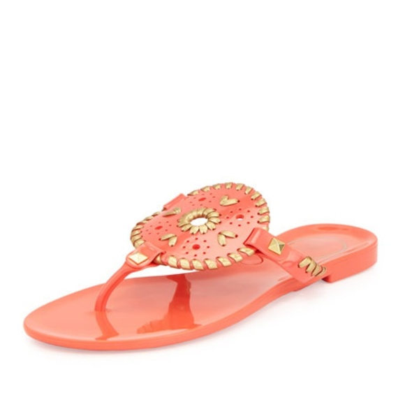 cc3db7bc3ab95 Jack Rogers Georgica Jelly Thong Sandal Coral
